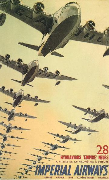 Imperial Airways Travel Poster, Airline Print